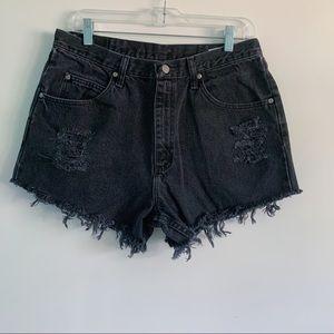 VTG Wrangler Women's Black Denim Cutoff Shorts